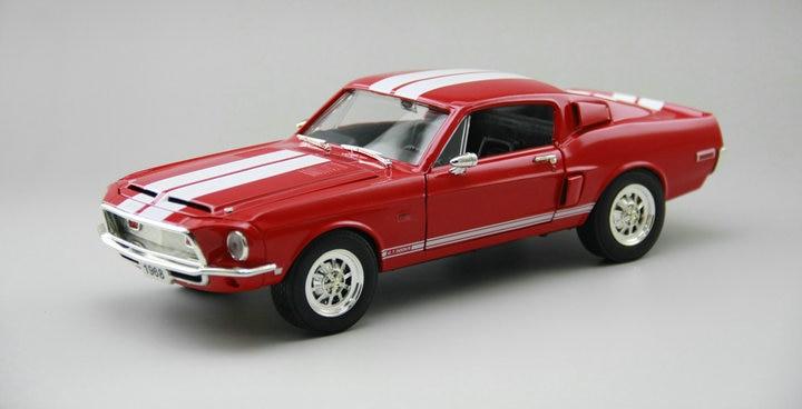 Изысканная 1:18 1968 500kr винтажная модель автомобиля коллекция из красного сплава модель двери может быть открывается - 3