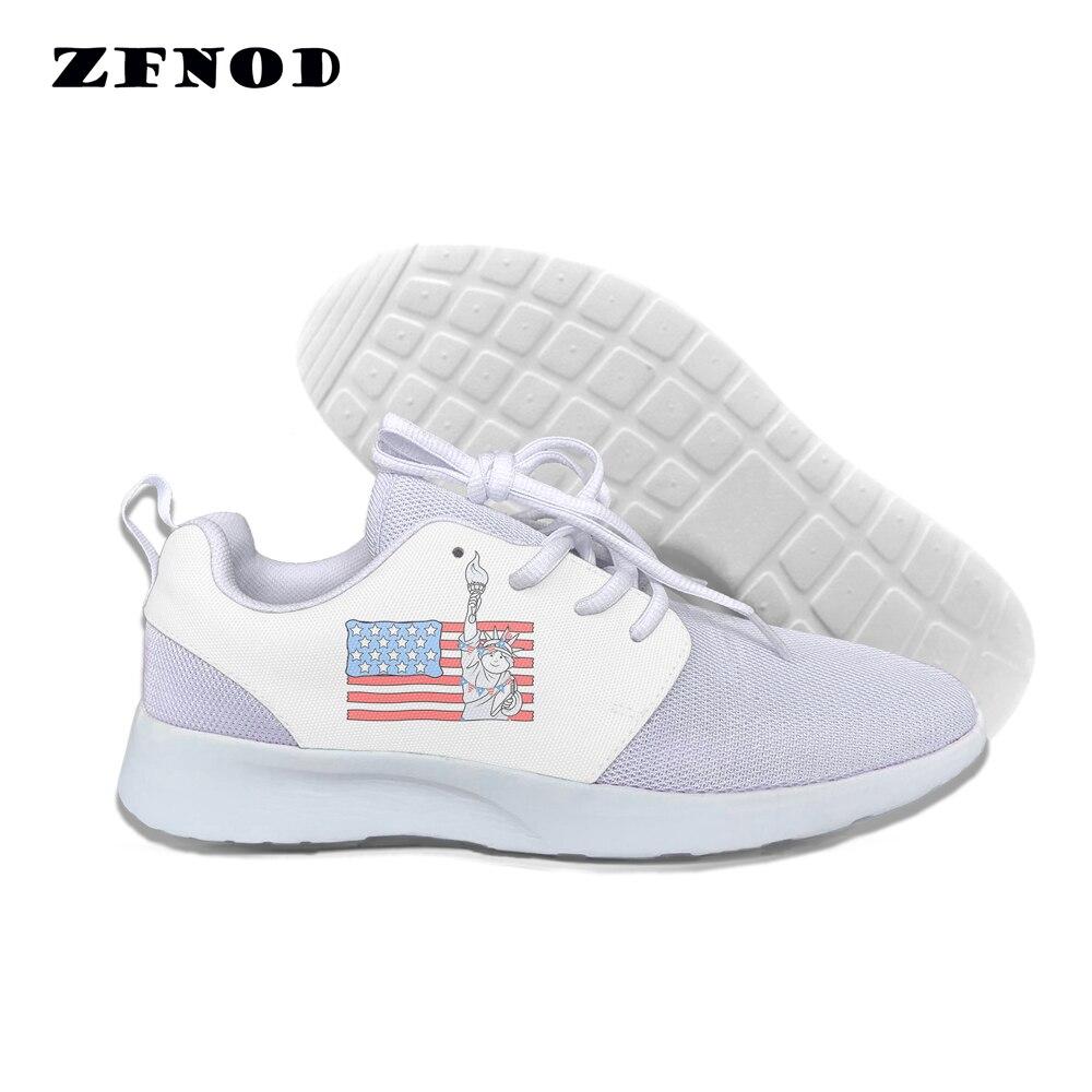 Canvas Shoes Platform Women Flats Fashion Cartoon American Lace-Up Flag-Patterns
