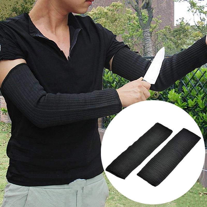 Professional 35cm Black Protect Climbing Armband Sleeve Sleeve Guard Camping Sport Goods Anti-Cut Sleeve Outdoor Guardian