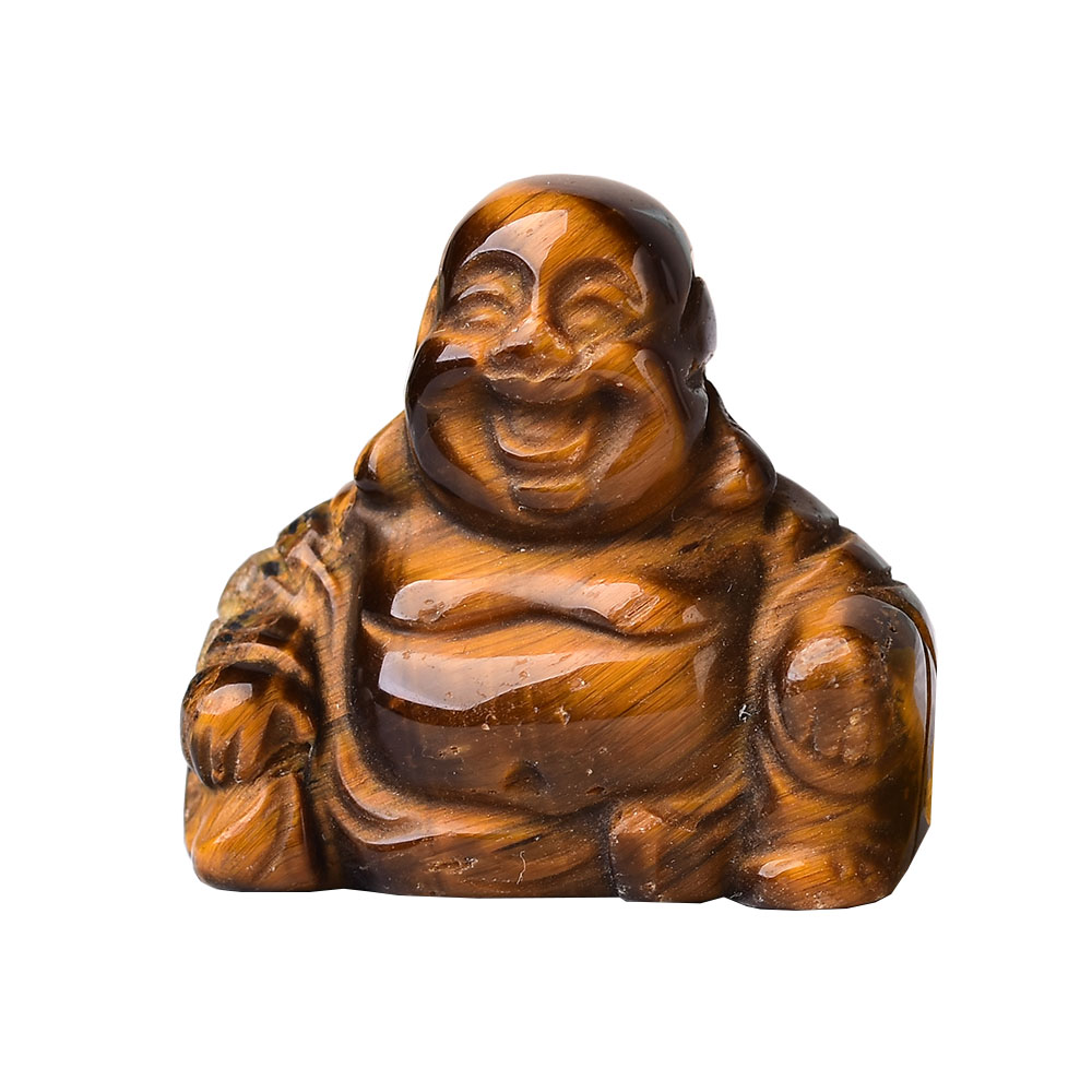 1 шт., резная статуэтка Будды фэншуй из натурального кристалла