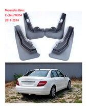 цена на 4pcs Auto accessories For Mercedes Benz C-class W204 Mud Flap fenders Splash Guards Mudguards Car styling in 2011-2014