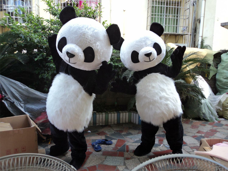 Mignon chinois Panda ours mascotte Costume adultes taille fantaisie robe fête d'anniversaire tenue de plein air Costume complet costumes