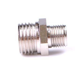 Airbrush Adaptor Fitting Connector For Compressor & Airbrush Hose 1/4'' BSP Male to 1/8'' BSP Male image