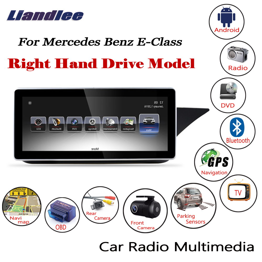 Liandlee Car <font><b>Android</b></font> Multimedia For Mercedes <font><b>Benz</b></font> E Class <font><b>W212</b></font> C207 2010~2017 Radio CD DVD Player Screen GPS Navigation Stereo image