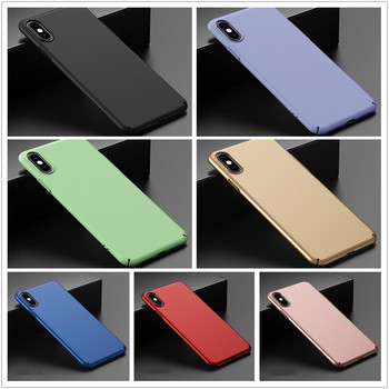 50pcs/lot Matte Slim Phone Case For iPhone 11 Pro Max X XS Max XR 6 6S 7 8 Plus Ultra-thin Frosted Hard PC Back Cover