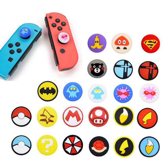 Cần Điều Khiển Bao Ngón Tay Cái Gậy Cầm Nắp Cho Nintendo Switch NS Lite Joy Con Bộ Điều Khiển Nintend Joy Con Chơi Game tự Dùng Ốp Lưng