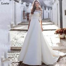 Lorie Wedding Dresses 2020 Off The Shoulder Lace Bride Vestido de novia Half Sleeve Boho Gown