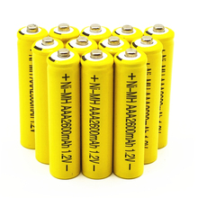 купить High Energy 1.2V YELLOW 2600mAh NiMh AAA Rechargeable Battery Ni-mh AAA Batteries Battria FREE shipping дешево