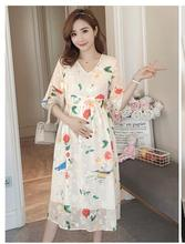 купить Pregnant Dress Ruffle Floral Maternity Dresses For Photo Shoot Chiffon Maternity Dress Party Clothes Maternity Clothing по цене 3255.26 рублей