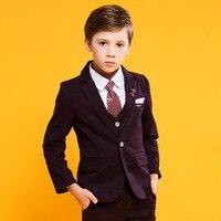 Boys Suits Formal Children Costume For Boy Wedding Suit Kids Coat 4 Pieces Summer Child Costume For Kids Boy Clothes Set
