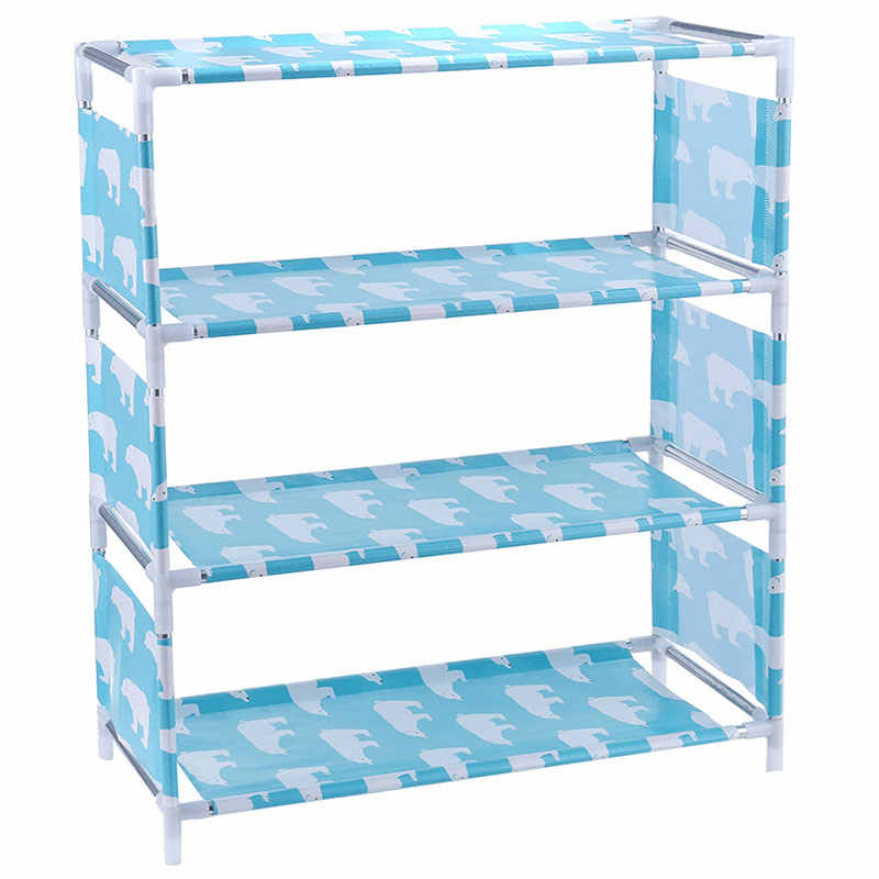 3/4 niveaux Non tissé étagère à chaussures maison Hall organisateur bricolage armoire de rangement étagère FP8