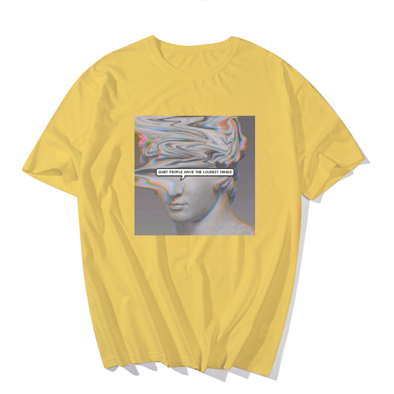 H6881a12df0904f14947926ff41156970L - Men's tshirt Funny Michelangelo Statue David Print Vaporwave Short Sleeve t shirt Harajuku Casual streetwear T-shirt men Top Tee