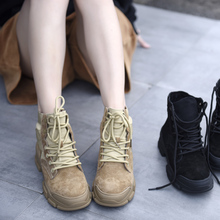 Artmu Thick Bottom Martin Boots New Leather Shoes Spring and Autumn Handmade Casual Sport Style Ankle 2019 Lace-up