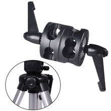 Universal For Boom Bracket Holder Photography Dual Swivel LED Light Mount Adjustable Grip Head Clamp Accessories Photo Studio(China)