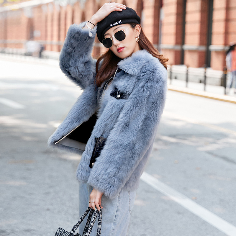 Natural Fur Coat Winter Coat Women Clothes 2020 Real Fur Jacket Korean 100% Wool Coat Female Jacket Double-faced Top Hiver 68570