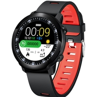 Bakeey SW05 Full Round Touch Music Control Decline Call Message Remin Heart Rate Monitor Sport buletooth Anti lost Smart Watch