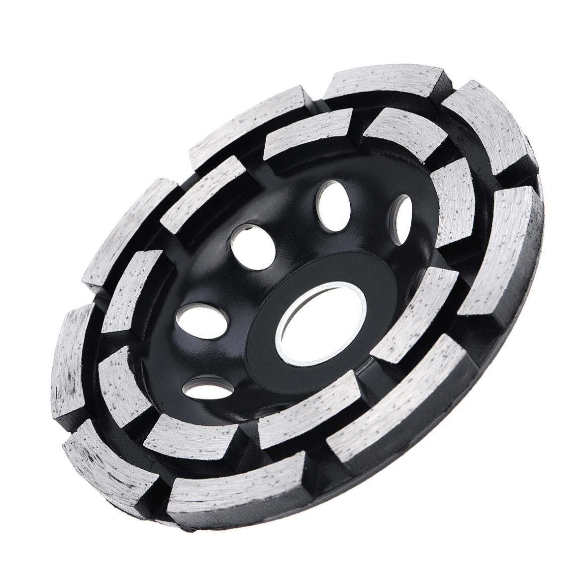 Electric 115mm Diamond Double-row Grinding Wheel Cutting Saw Blade w// 22mm Hole