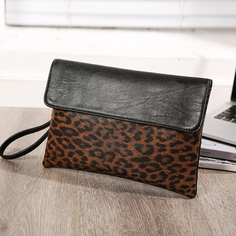 Image 2 - Street casual iPad clutch bag envelope bag men and women tide leopard camouflage clutch bag-in Crossbody Bags from Luggage & Bags