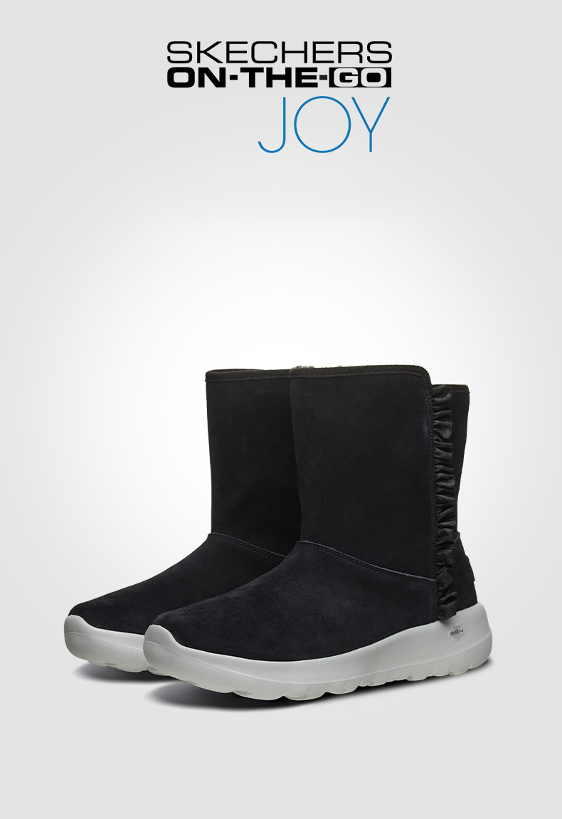 Skechers 2019 Winter Snow Boots Men Comfortable Waterproof Casual Shoes Rubber Work Boots Men Sneakers Causal Shoes 54300 BBK