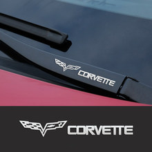 Metal emblem Auto Decor Decals Reflective Car Window Wiper Stickers For Chevrolet Corvette C6 C5 C7 C4 C3 Car Accessories