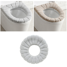Cushion Bathroom-Furniture Toilet-Cover Mat Warmer Filling Thicker Comfortable Winter