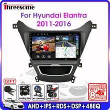 Autoradio Android 9.0, navigation GPS, 4G, écran partagé, lecteur multimédia, fenêtre flottante, pour voiture Hyundai Elantra Avante I35 (2011 – 2016)
