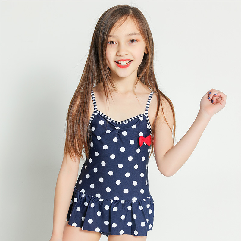 Cross Border Amazon Supply Of Goods Girls Anti-Purple One-piece Camisole CHILDREN'S Swimwear A Generation Of Fat