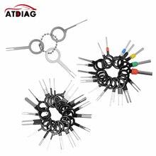 Conjunto de herramientas de extracción de terminales de enchufe automotriz, Pin de llave, Conector de crimpado de cable eléctrico de coche, accesorios, 41 Uds.
