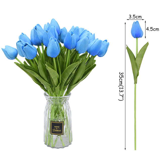 10PCS Tulip Artificial Flower Real Touch Artificial Bouquet Fake Flower for Wedding Decoration Flowers Home Garen