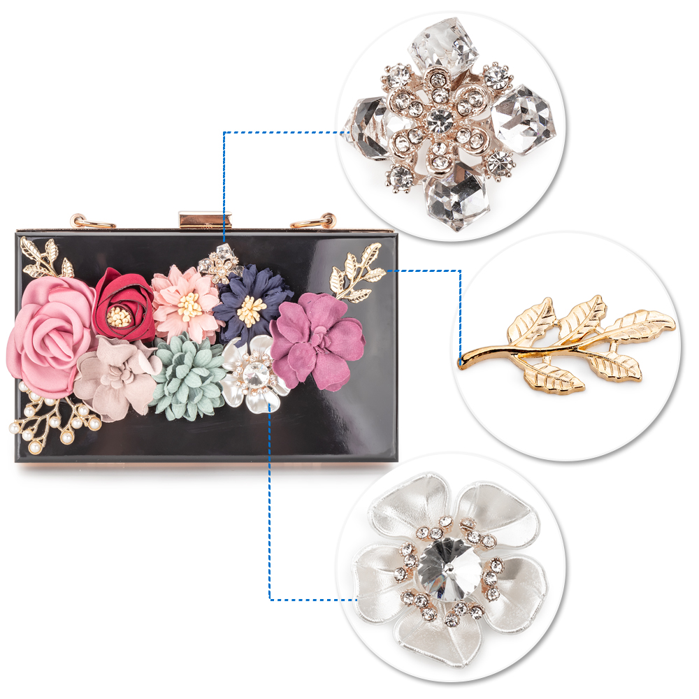 Women Acrylic Flower Clutches Purse Evening Bags Chain Strap H6882c3015749446190bc420299c3daf69 Bag