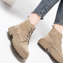 Winter Boots Platform Ladies Shoes Smile-Circle Suede Autumn Flat Fashion Women Ankle