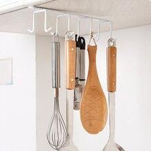 Полезные Кухня шкафа стеллаж для хранения шкаф, полка крючок Организатор гардероб одежда Стекло кружка Полка вешалка крючки держатель