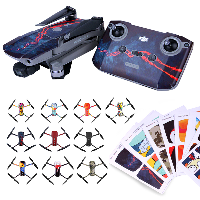 Protective Stickers For Mavic Air 2 Colorful Waterproof Scratch-proof Decals Full Cover PVC Skin For DJI Mavic Air 2 Accessories