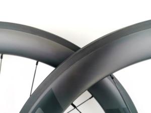 Image 4 - 700C 60 มม.ความลึกถนนจักรยานคาร์บอนล้อ 25 มม.ท่อ/Clincher Carbon wheelset UD Matte FINISH EVO decals