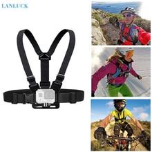 цена на Djustable Chest Strap Action Camera Chest Mount Harness for GoPro SJCAM SJ4000 Mount Belt for gopro Hero 5 4 Sports Accessories