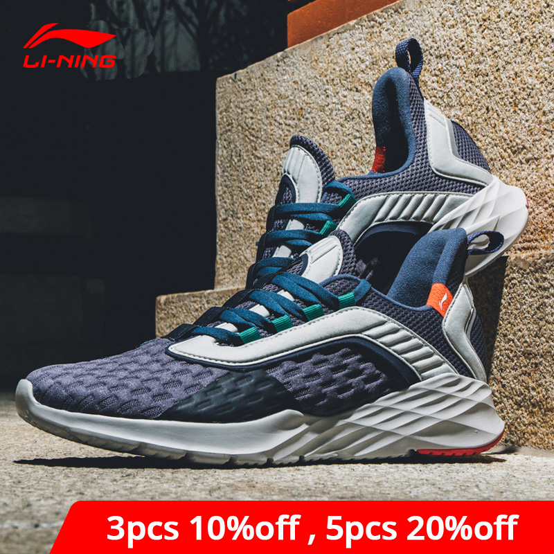 Li-Ning Men CRAZY RUN Cushion Running Shoes Light Flexible LiNing Li Ning Support Sport Shoes Comfort Sneakers ARHP007 XYP868