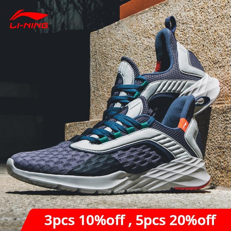 Li-Ning Men CRAZY RUN Cushion Running Shoes Light Flexible LiNing Li Ning Support Sport Shoes Comfort Sneakers ARHP007 XYP868