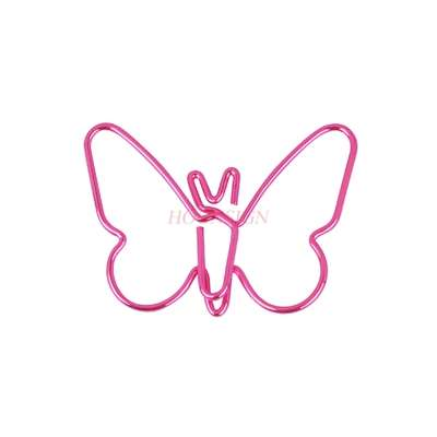 15pcs Pink New Butterfly Paper Clip Cartoon Paper Clip Buckle Pin Large Cute Paper Clip
