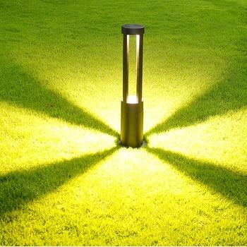 Thrisdar 10W Aluminum Cylinder Garden Lawn Light Pathway Road Post Lawn Light Villa Landscape Backyard lawn Post Lamp