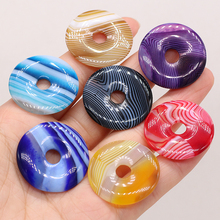 1 PC Natural Stone Large Beads Color Fashion Trend Bright Colors Men