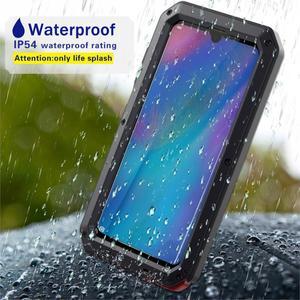Image 5 - Protection robuste Doom armure métal aluminium étui de téléphone pour Huawei Mate 20 Pro P30 Pro étuis antichoc housse anti poussière