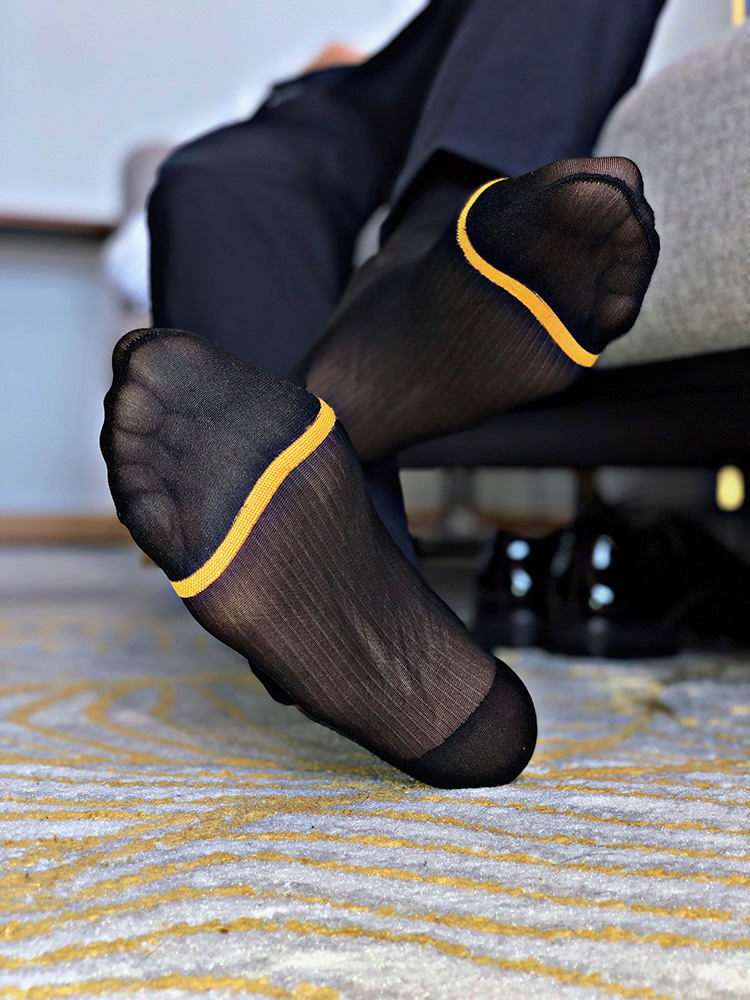 Men's Socks Ultra Thin Silk Socks Mens Formal Dress Suit Socks Sexy Transparent Sheer Socks Erotic Male Business Dress Socks