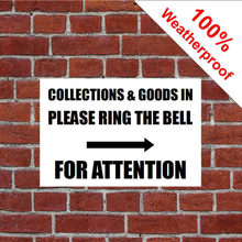 Customized Collections Goods In Ring Bell With Right Arrow Sign Warehouse PVC(China)