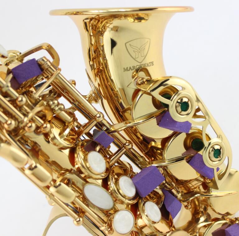 Saxophone soprano SAX Bb en laiton laqu/é Silver
