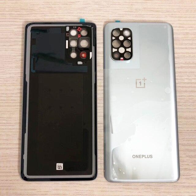 100% オリジナルガラスバックカバーoneplus 8t + 5グラムt‑mobile/1プラス8 tバックドア交換背面ハウジングカバー