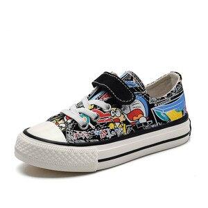 Image 3 - Babaya Kinder Leinwand Schuhe Jungen Sneaker Atmungsaktive 2020 Frühjahr Neue Cartoon Graffiti Mädchen Schuhe Mode Kinder Turnschuhe für Mädchen