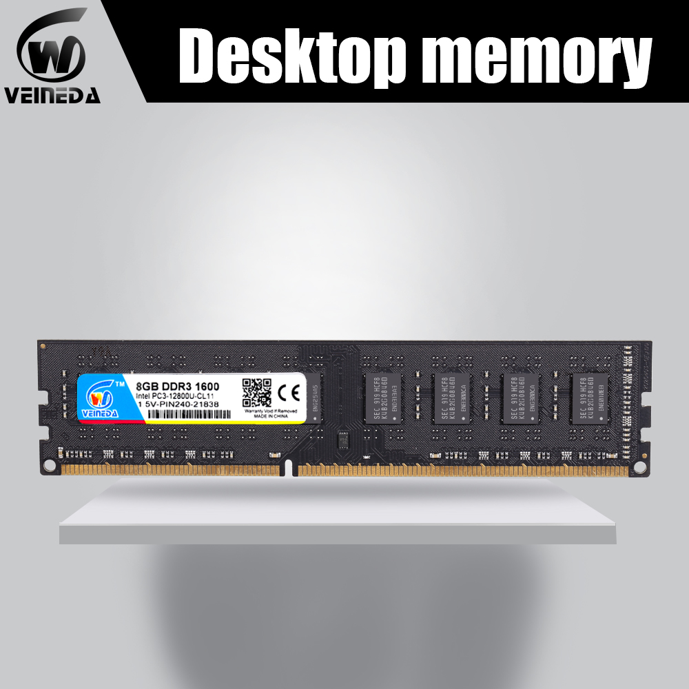 Ddr3 para Todos Veineda Nova 4x4gb Memória 1066 1333 Intel Amd Desktop Pc3-12800 1600 240pin Não-dimm Ecc Ram Ddr3 32gb