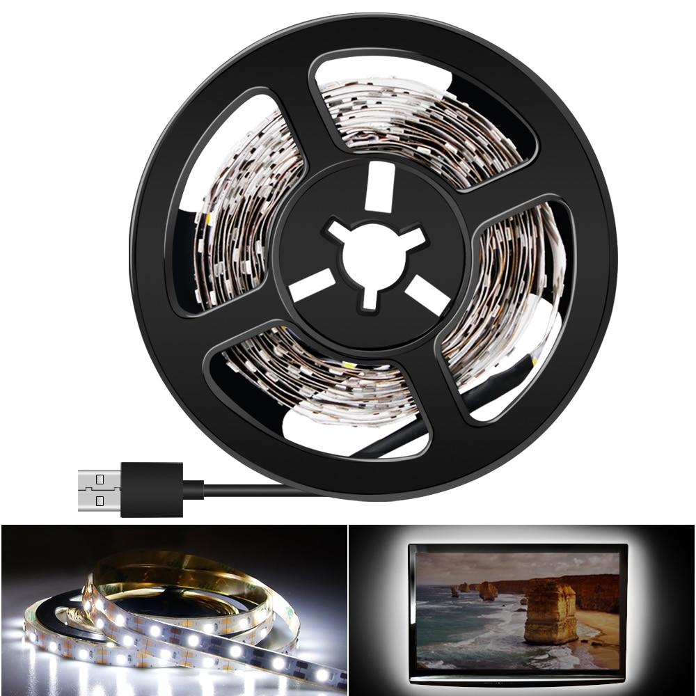LED Strip USB 5V TV Backlight Led Light 2835 HDTV Desktop Screen Bias lighting 1M 2M 3M 4M 5M Tape
