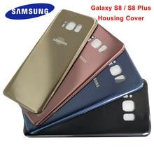 Samsung s8 plus capa traseira da bateria para samsung galaxy s8 mais s8 s8 + g950 g950f g955 g955f vidro capa traseira substituição