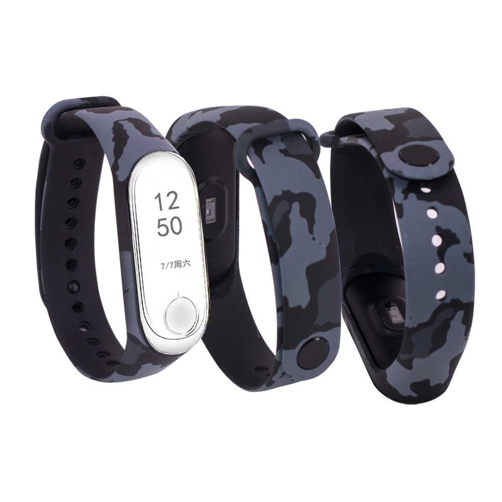 Bracelet-montre en Silicone pour Xiaomi mi band 3 4, Bracelet-montre, accessoires, motifs, mode